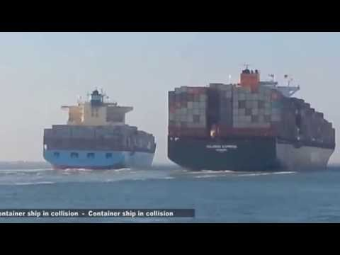 Accident between two container ships through the Suez Canal.