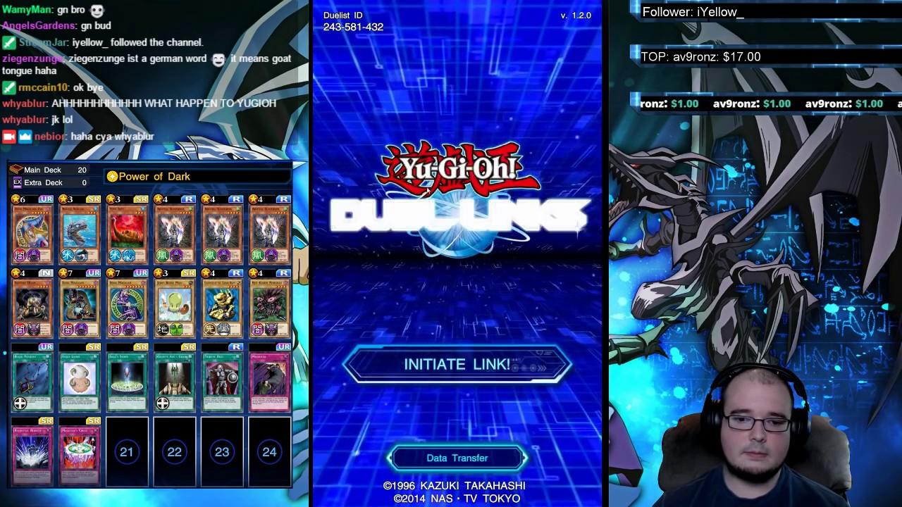 YuGiOh Duel Links Data Transfer