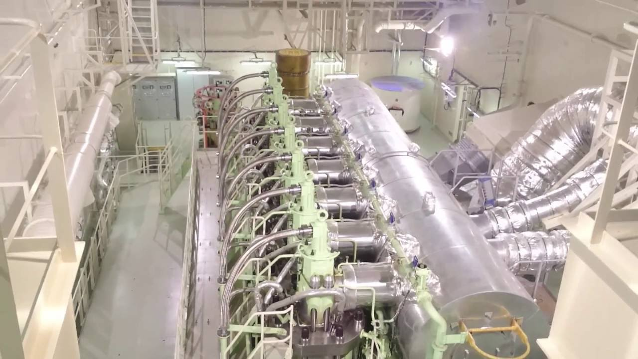 Maersk EEE class engine room overview  YouTube