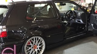 VW MK3 GOLF SHOW CAR BY OFFSET DETAILING ACCUAIR TT ENGINE SWAP TT DASH CONVERSION