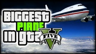 Grand Theft Auto 5 (GTA 5) Activities - BIGGEST Airplane in the Game (747 Jumbo Jet)