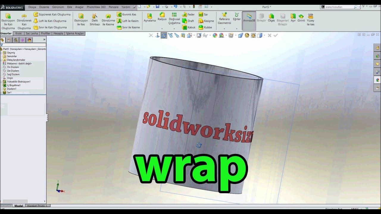 SOLIDWORKS 2020 / FİLL PATTERN / FLEX / WRAP