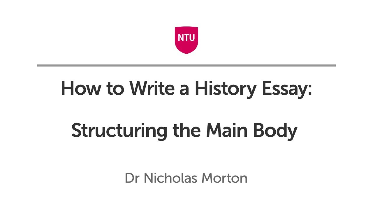 How to Write a History Essay: Forming an Introduction