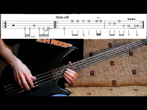How to play 'For Whom The Bell Tolls' by Metallica | bass lesson + bass tab