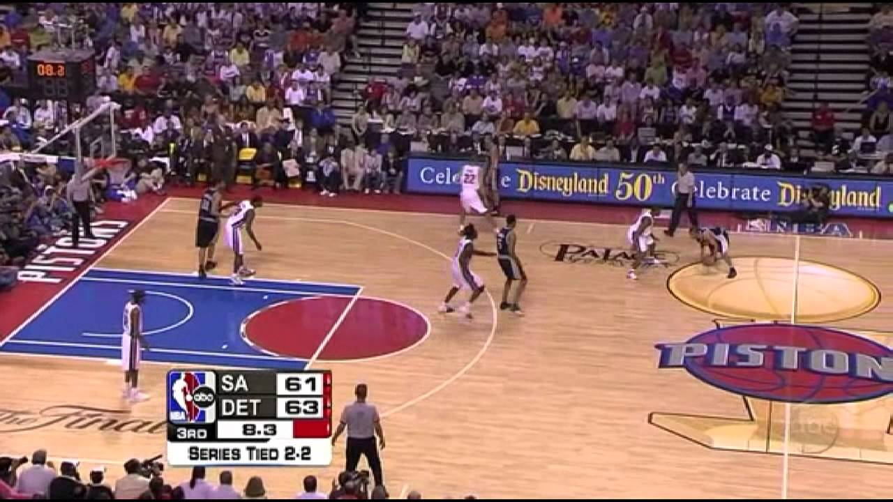 2005 NBA Finals - San Antonio vs Detroit - Game 5 Best Plays - YouTube