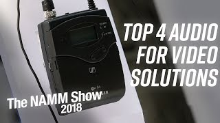 Top 4 Audio For Video Solutions at NAMM 2018