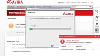 Tutorial how download and Install  Avira free antivirus 13 on windwos 7