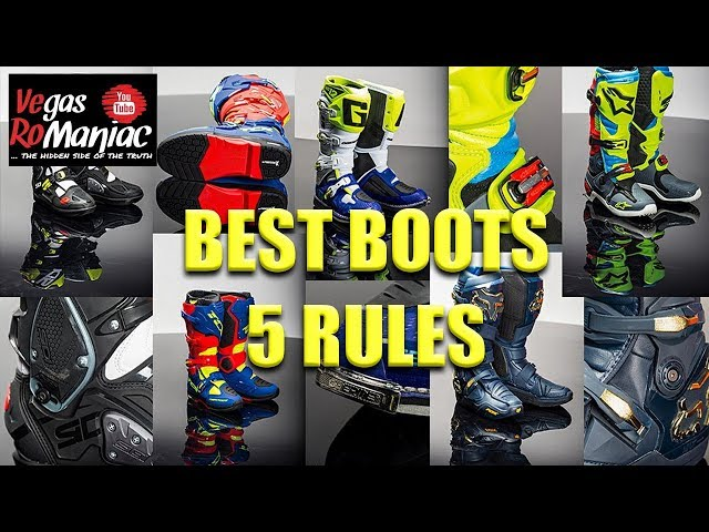 5 Rules to follow when you are looking for the BEST MX Enduro Boots on the market
