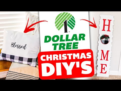 Dollar Tree DIY Christmas Decor 2019 🎄 DIY Rustic Christmas Decorations