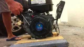 Starting 13hp Lifan motor (Harbor Freight)
