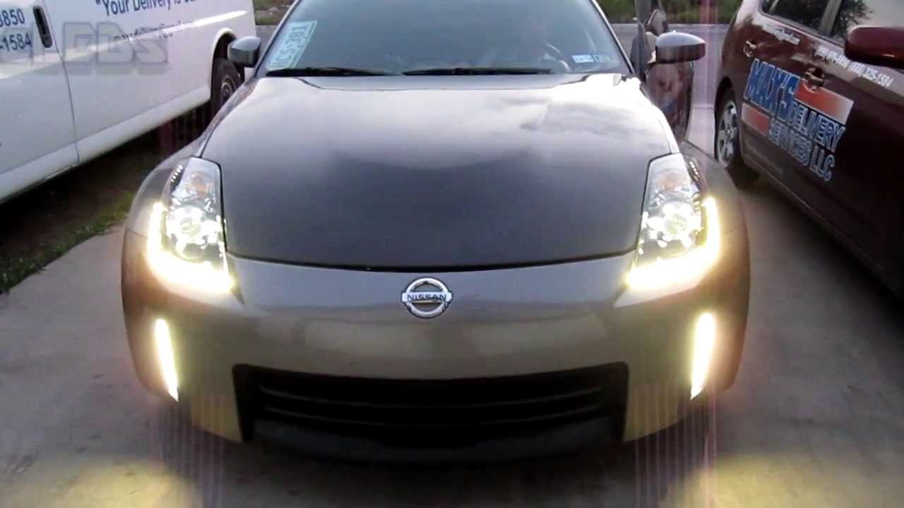Nissan 350z Custom Iron Man Headlights Led Drl Led