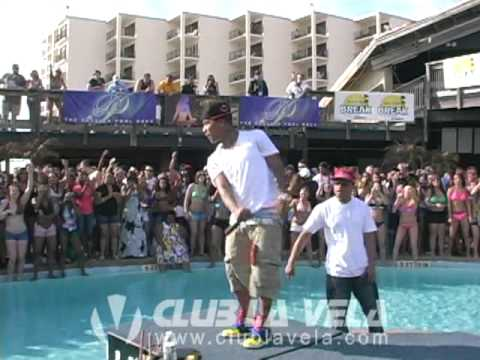 YOUNG BERG LIVE POOLSIDE AT CLUB LA VELA SPRING BREAK 2010