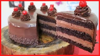 CHOCOLATE CAKE | 1KG OF CHOCOLATE IN THIS CAKE