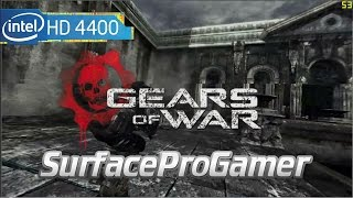 Gears of War on Microsoft Surface Pro 2 Playing on intel hd 4400 Gameplay setting