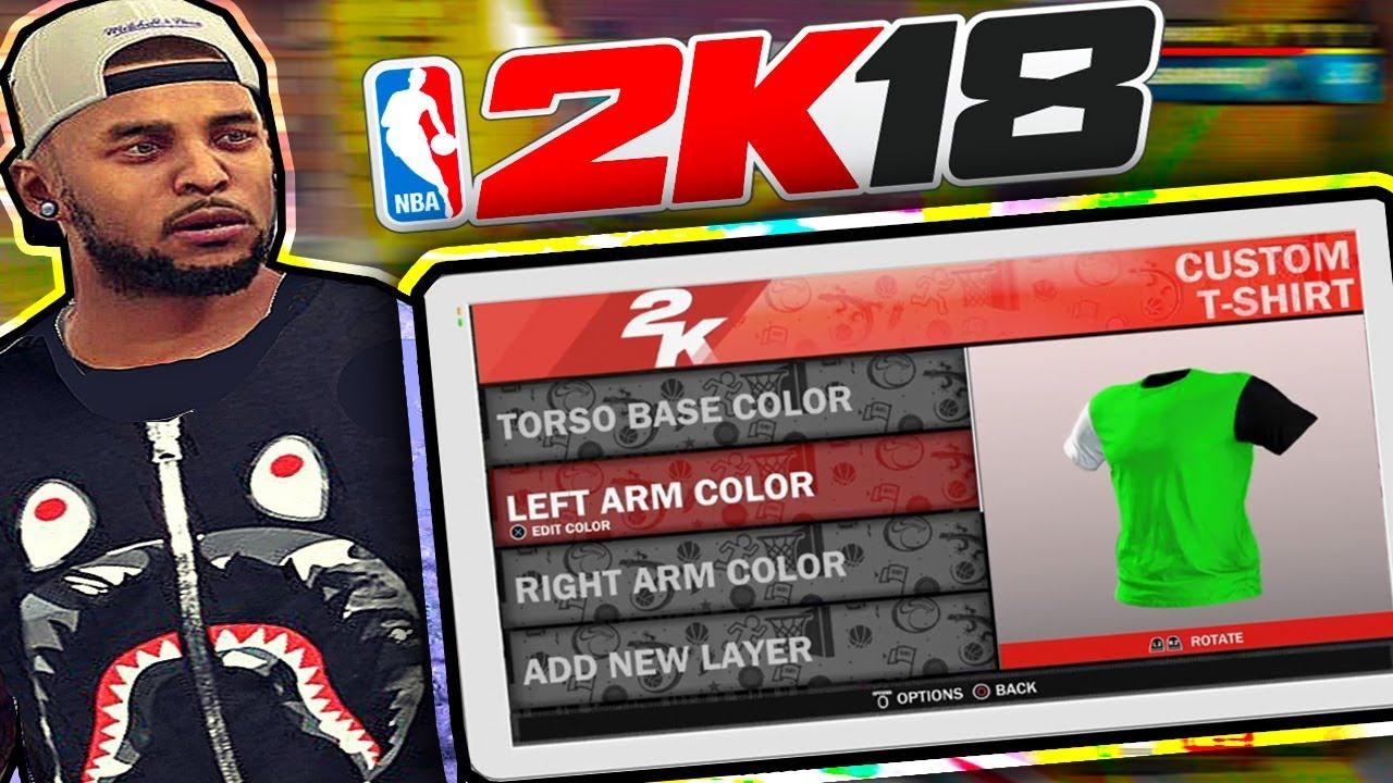 2967eca368e NBA 2k18 Custom T-Shirts Creator!! You Can Make BAPE