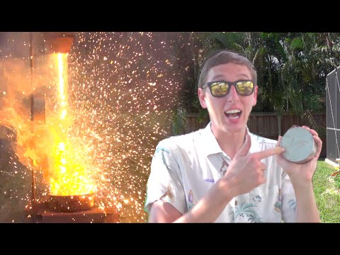 Thumbnail: Molten Iron Vs. HUGE Magnet