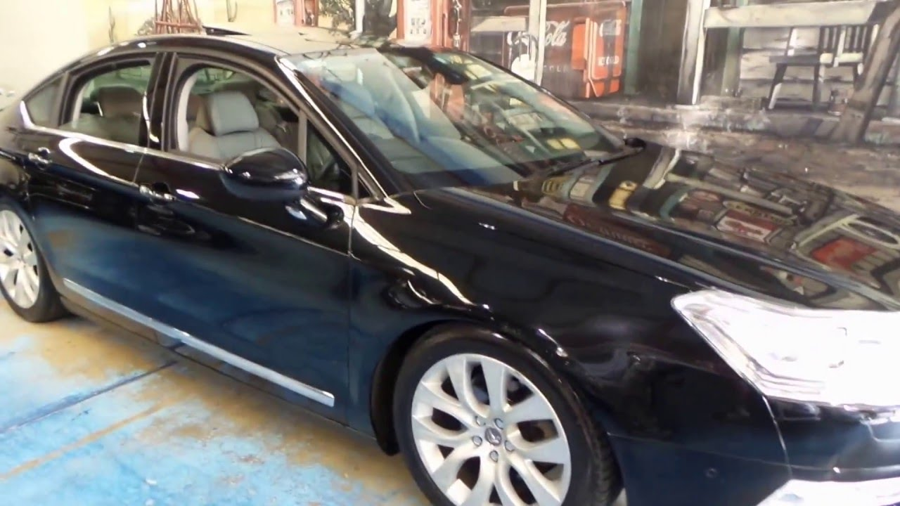2008 citroen c5 exclusive black with cream leather youtube. Black Bedroom Furniture Sets. Home Design Ideas