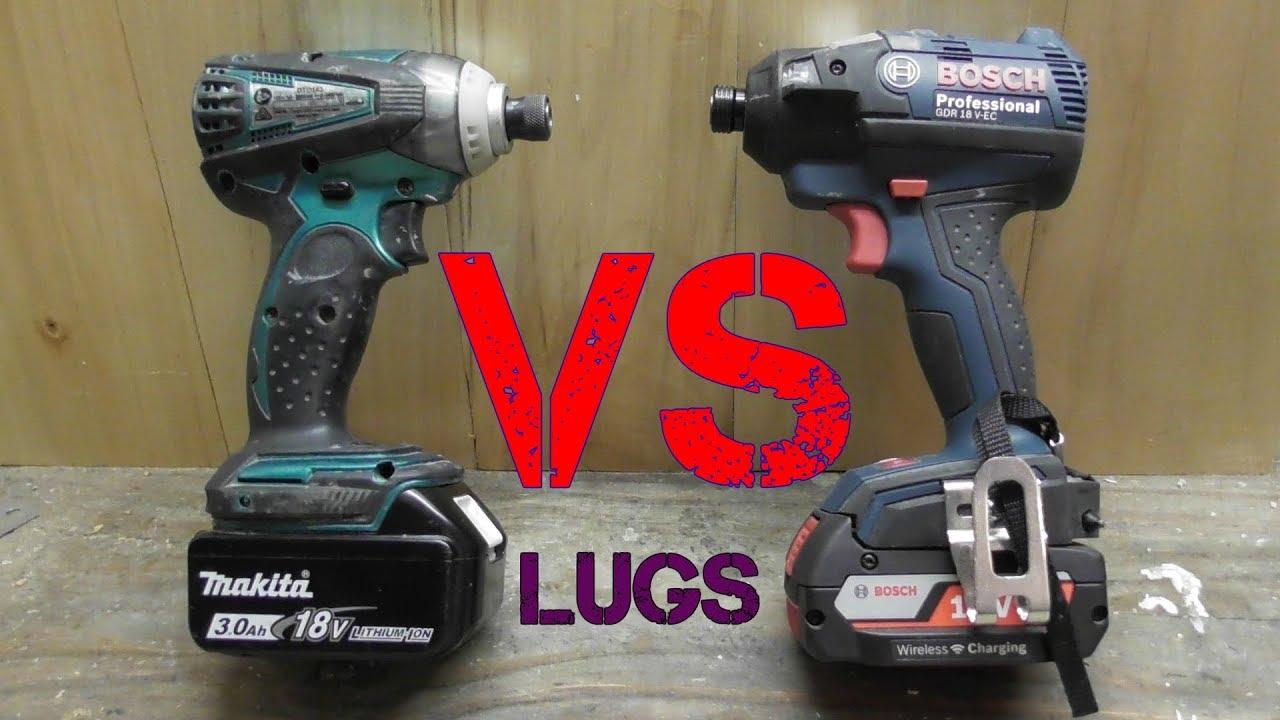 makita vs bosch impact drivers is bosch better at lug. Black Bedroom Furniture Sets. Home Design Ideas