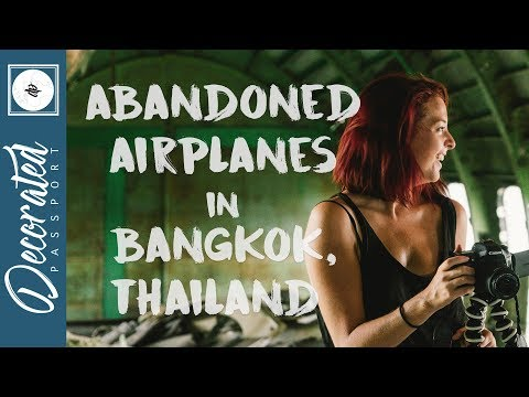 ABANDONED AIRPLANES AT THE AIRPLANE GRAVEYARD - BANGKOK THAILAND (TRAVEL VLOG)