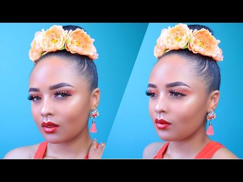 Orange Glowy Summer Makeup Tutorial + Khora Beauty Review