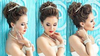 Hairstyle for long hair - Свадебная причёска с диадемой - Hairstyles by REM(Мои страницы: http://youtube.com/user/rogovaya http://vk.com/lena.rogovaya http://instagram.com/lenaragavaya http://facebook.com/rogovaya.lena ..., 2015-04-10T23:17:39.000Z)