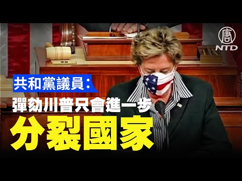 美众议院通过川普弹劾案 共和党议员:分裂国家