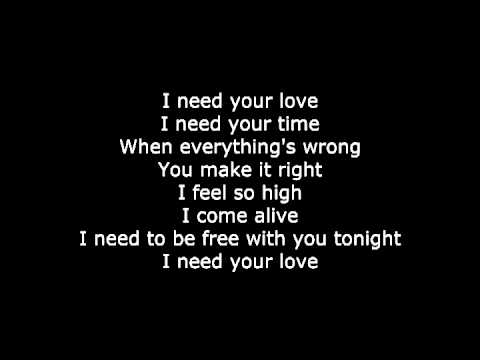 Calvin Harris - I need your love (letra de canción/song lyrics)