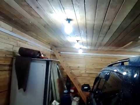Свет в гараже своими руками фото