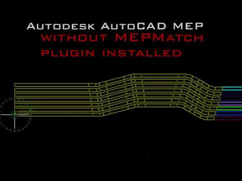 MEPMatch plugin for Autodesk AutoCAD MEP overview