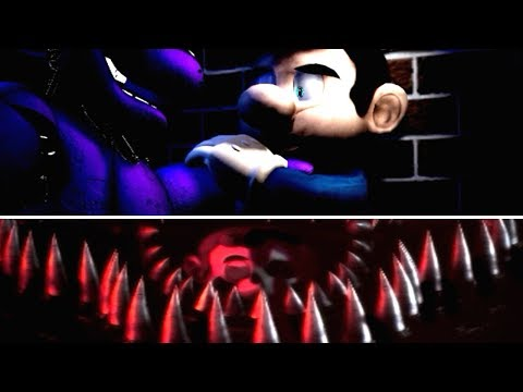 Mario in Animatronic Horror: The Nightmare Begins *NIGHT 1 JUMPSCARES*