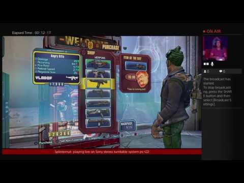 Splinternut Borderlands pre-sequel! live from Guam! Via satellite
