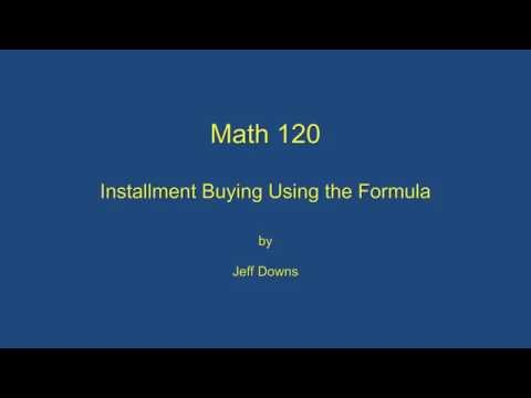 Calculating Payments Using the Formula