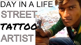 Fastest & best tattoo artist in action ! {{unreal india!!}}