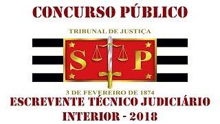 Concurso Escrevente TJSP 2018 - ANÁLISE DO EDITAL
