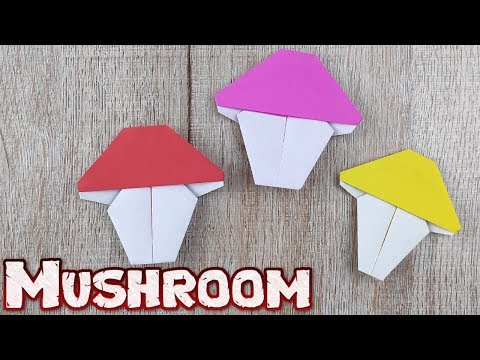 Origami Easy Mushroom Paper | How to make a paper mushroom | DIY Simple 3D Step-by-step Instructions