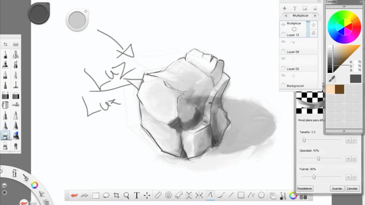 Tutorial dibujando una piedra youtube - Dibujos de piedras ...