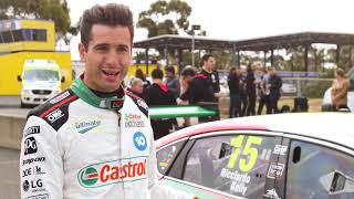 Daniel Ricciardo tests the Castrol Australia Supercar
