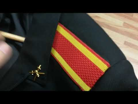 Как правильно пришить погоны на китель кадета