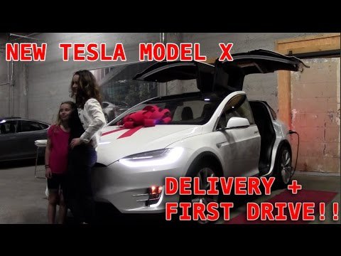 TESLA X DELIVERY + FIRST DRIVE!!