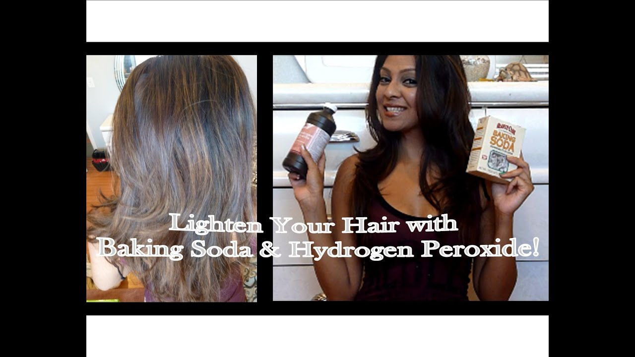 Lighten Your Hair With Baking Soda And Hydrogen Peroxide Youtube