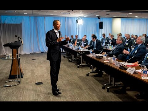 The President Speaks to the Business Roundtable