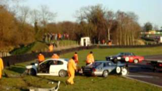 Fast Big Crash!! Multiple car crash at the