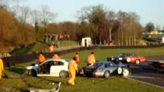 Fast Big Crash!! Multiple car crash at the