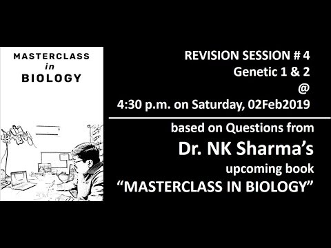 NEET Biology Video Lectures - Genetics - Dr. NK Sharma - AIIMS | NEET | Preparation 2019 | 2020