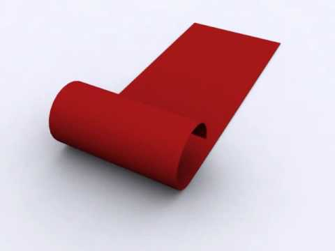 Rolling And Unrolling Carpet 3d Animation Youtube