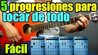 las 5 progresiones combinaciones de acordes ms usadas en la guitarra