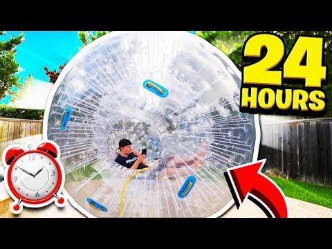 24 HOUR GIANT HAMSTER BALL CHALLENGE!