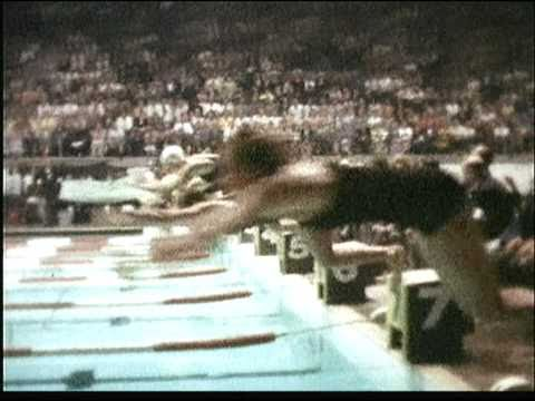 Dawn Fraser Wins 100m Final Melbourne 1956 Olympics Colour Footage