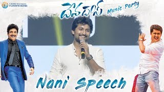Nani Energetic Speech at #Devadas Music Party | Akkineni Nagarjuna, Rashmika, Aakansha Singh