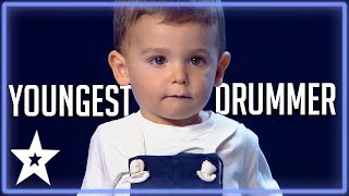 2 Y.O Baby Drummer Is The Youngest Contestant on Got Talent ...